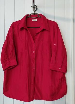 Женская рубашка большого размера