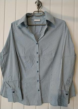 Отличная полосатая рубашка большого размера