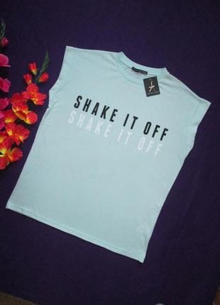 Классная стрейчевая футболка с надписью atmosphere