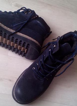 Мужские зимние ботинки, нубук, размер 44, новые