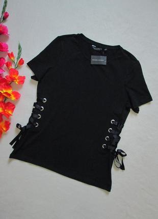 Крутая стрейчевая футболка с переплётами шнуровкой  dorothy pe...
