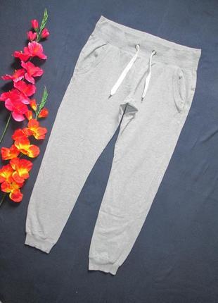 Трикотажные спортивные брюки серый меланж crivit sports