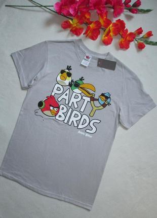 Фирменная футболка с мультяшным принтом angry birds