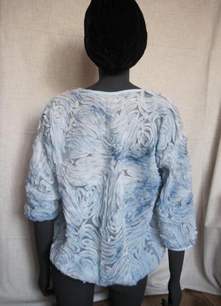 Блуза в объемные розы zara