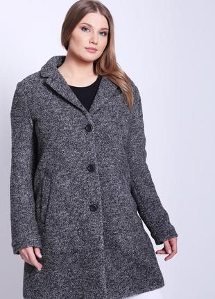 Пальто шерсть букле jeans fritz новое м