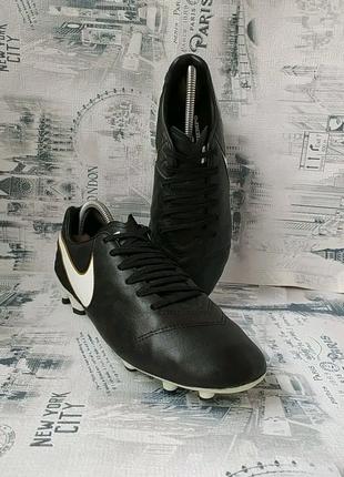 Adidas Tiempo leather бутсы-шиповки