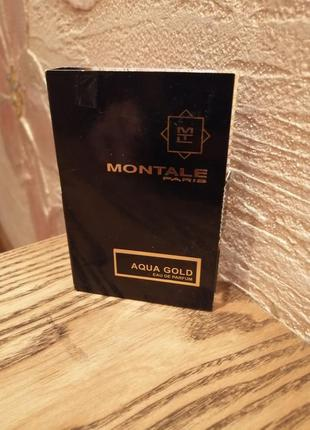 Montale aqua gold парфюмированная вода, пробник