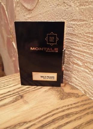 Montale wild pears парфюмированная вода, пробник виалка