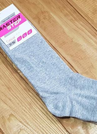 Носки женские светло-серый меланж, укороченные, размер 25 / 37...