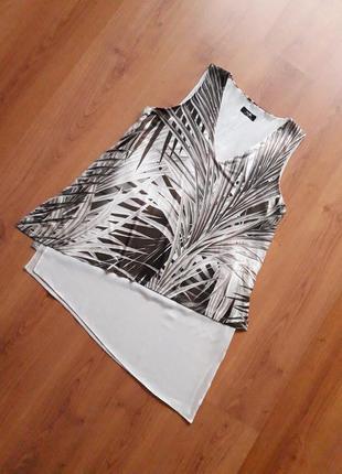 Красивая двойная блуза туника, р. 14