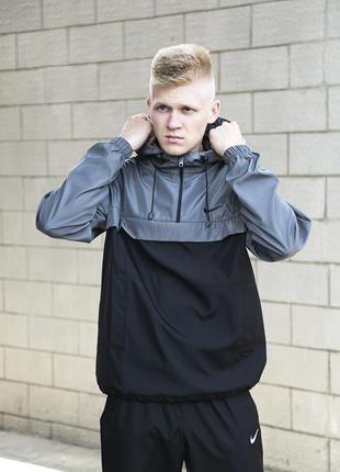 Анорак мужской с капюшоном мастерка осенняя куртка легкая