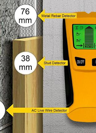 Детектор скрытой проводки металла дерева - мультисканер 3в1