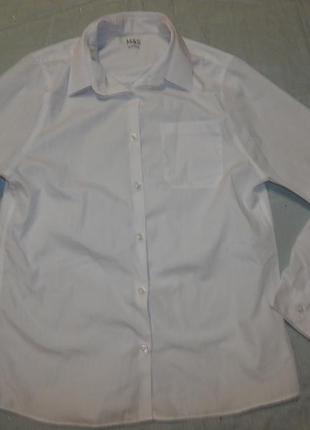 Рубашка белая новая на мальчика р 14-15 лет 164см