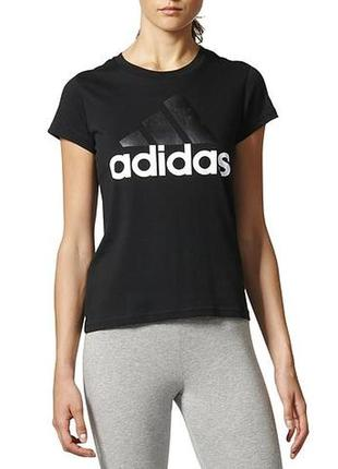 Спортивная стрейчевая футболка 100% коттон adidas оригинал