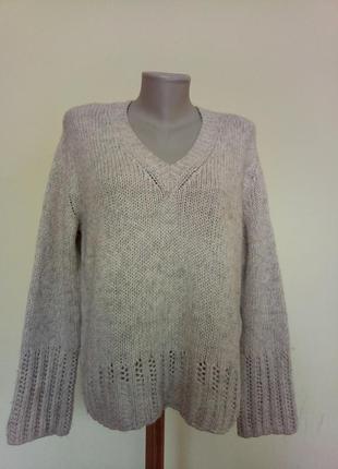 Теплый брендовый свитер вирджинская шерсть альпака