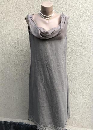 Комбинированное платье сарафан,ворот хомут,кружево,этно бохо с...