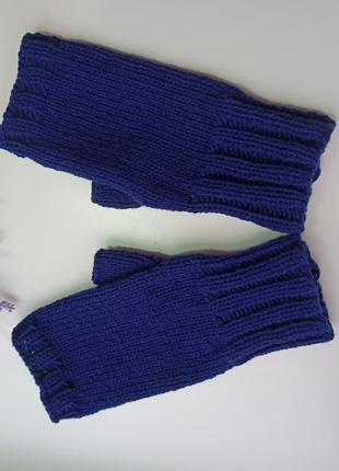 Митенки меринос вязаные перчатки для сенсорных экранов перчатк...