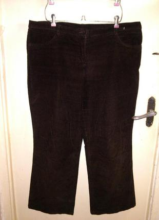 Стрейч-коттон,микро-вельвет,коричневые брюки,большого 18-22 ра...