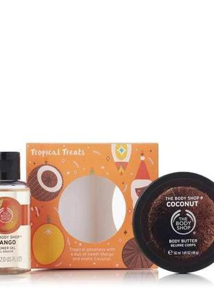 Подарочный набор the body shop - creamy & sweet tropical treats