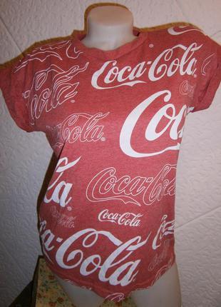 Футболка хлопок  кока кола coca cola меланж лого