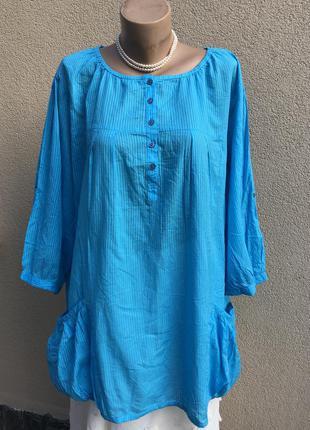 Блуза,рубаха,туника,этно бохо стиль,хлопок100%,большой размер,