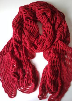 Красный шарф marks & spencer