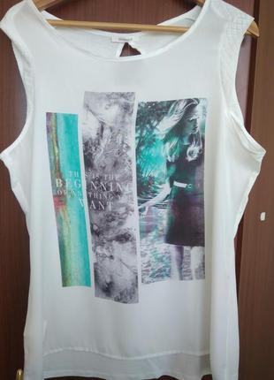 Майка/блуза promod с принтом на морскую тематику.