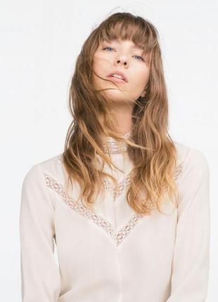 Нежная кружевная блуза zara
