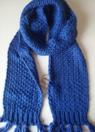 Синий шарф pull&bear