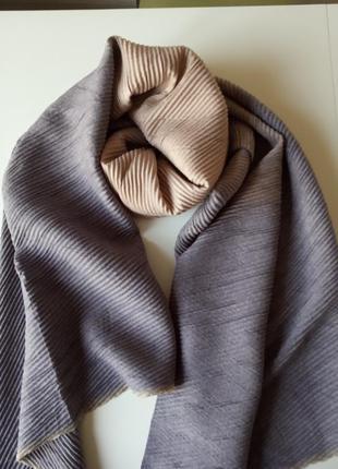 Кашемировый гофрированный шарф, палантин