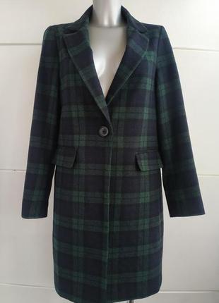Стильное пальто в мужском стиле  new look в клетку