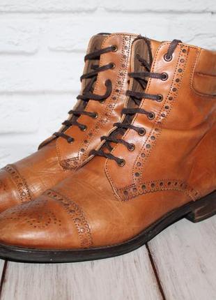 Кожаные ботинки броги/оксфорды pertini 100%натуральная кожа 40...