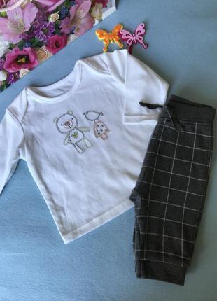 Милая новая хлопковая кофта для малыша новорожденного 0-3 мес