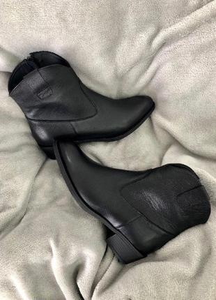 Lux обувь! кожаные женские ботинки на удобном каблуке