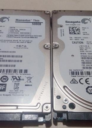 """Жесткие диски 2,5""""  500Gb  13-14 гг."""
