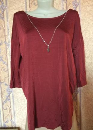 Бордовая блуза stradivarius, размер l