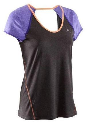 Спортивная футболка с контрастными вставками domyos.