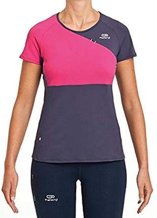 Спортивная футболка с контрастными вставками kalenji