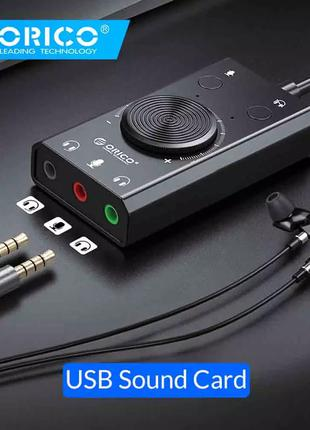 Внешняя звуковая карта ORICO SC2 USB Jack 3.5 мм