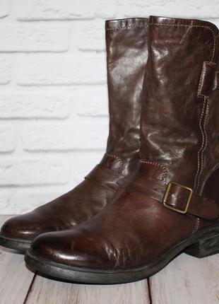 Комфортные кожаные сапоги mjus 41 размер 100% натуральная кожа