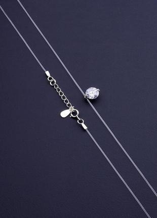 Подвеска 'sunstones' фианит 40 см. серебро 0675200