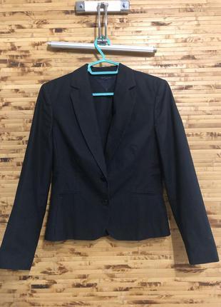 Пиджак жакет блейзер tommy hilfiger синего цвета в мелкую поло...