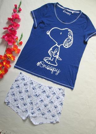 Пижама домашний костюм футболка + шорты снупи snoopy 100% котт...