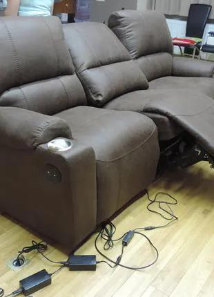 стильный и удобный мягкий диван reglainer,кожаный диван релакс