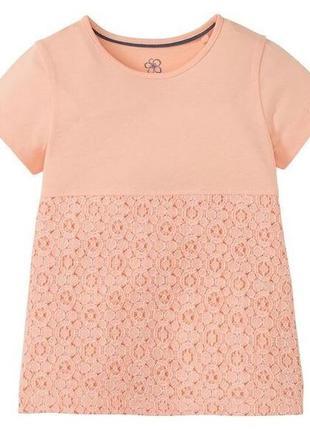 Нарядная футболка с кружевом на девочку от lupilu,германия.раз...