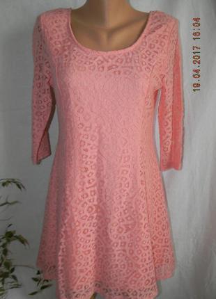 Кружевное новое платье mandi