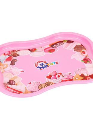 Поднос пластиковый, розовый MiC Розовый