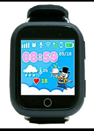 Детские умные смарт часы Smart Baby Watch Q100s с GPS трекером bl