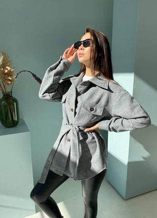 Трендовое пальто - рубашка