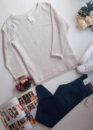 Буклированый свитер пуловер джемпер светр от h&m